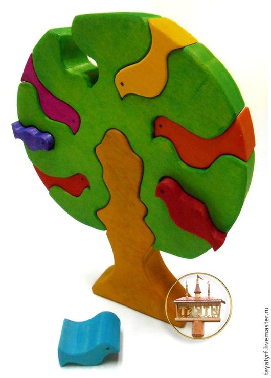 Развивающие игрушки ручной работы. Ярмарка Мастеров - ручная работа. Купить Дерево с птичками деревянный паззл. Handmade. Дерево счастья
