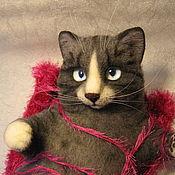 Куклы и игрушки ручной работы. Ярмарка Мастеров - ручная работа войлочный кот Матвей. Handmade.