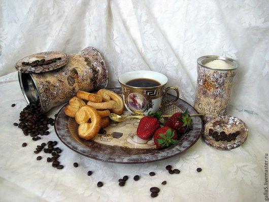 Кухня ручной работы. Ярмарка Мастеров - ручная работа. Купить Баночки для кофе.. Handmade. Коричневый, банка декупаж, для хранения кофе
