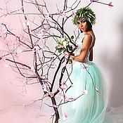 Платья ручной работы. Ярмарка Мастеров - ручная работа Мятное платье. Handmade.