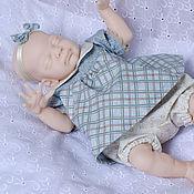 Куклы и игрушки ручной работы. Ярмарка Мастеров - ручная работа Green tea/Наряд для крошки Рози. Handmade.