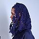 Кофты и свитера ручной работы. Синий свитшот с кружевным капюшоном. Ekaterina Loginenko (Loginenko). Ярмарка Мастеров. Авторский, женственный