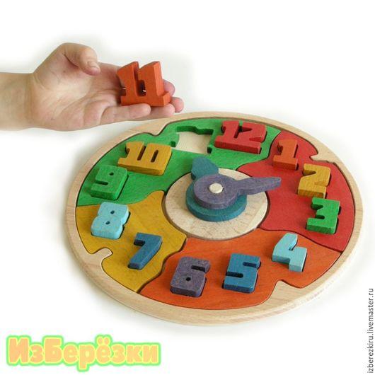 Развивающие игрушки ручной работы. Ярмарка Мастеров - ручная работа. Купить Часики деревянные. Развивающая игрушка.. Handmade. Часики, головоломка
