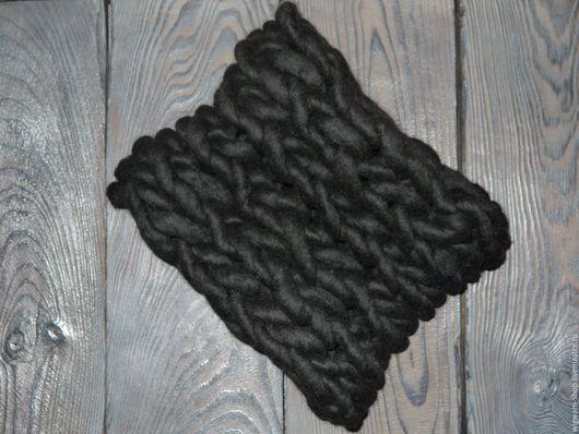 Шарф-снуд, цвет Черный цена 2500 скидка 20% 2000
