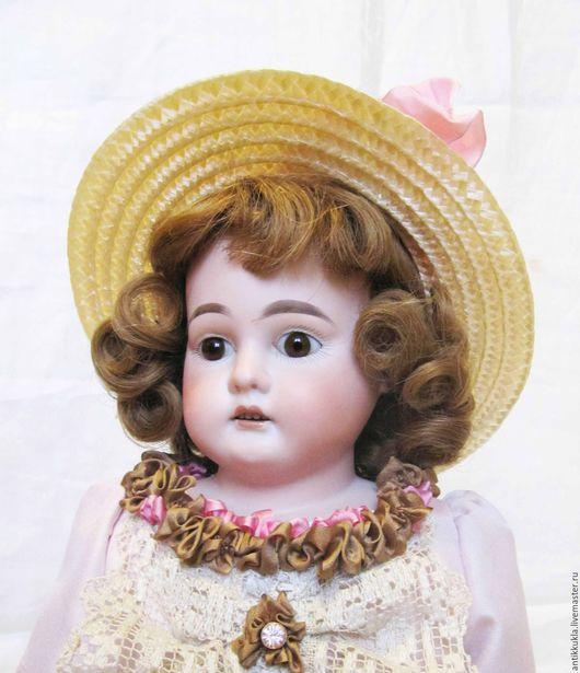 Винтажные куклы и игрушки. Ярмарка Мастеров - ручная работа. Купить Редкая старинная куколка Columbia. Handmade. Бледно-розовый