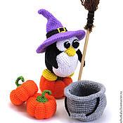 Куклы и игрушки ручной работы. Ярмарка Мастеров - ручная работа Пингвин на Хэллоуин :) - вязаная игрушка. Handmade.