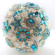 Свадебный салон handmade. Livemaster - original item Cream brooch-bouquet
