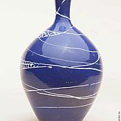 Для дома и интерьера ручной работы. Ярмарка Мастеров - ручная работа Синяя ваза. Handmade.