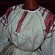 Одежда ручной работы. Ярмарка Мастеров - ручная работа. Купить Блузка с красным орнаментом. Handmade. Белый, славянская рубаха