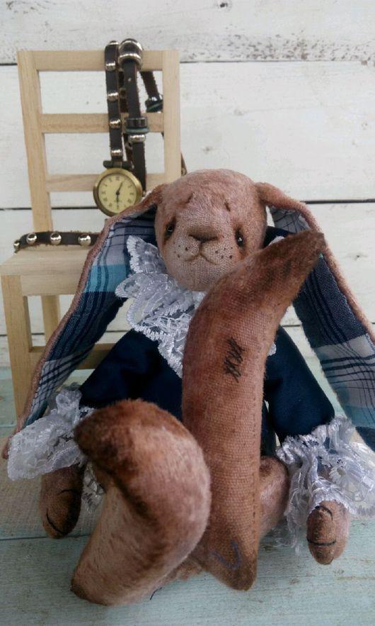 Мишки Тедди ручной работы. Ярмарка Мастеров - ручная работа. Купить Тедди заяц мартовский. Handmade. Тедди зайка