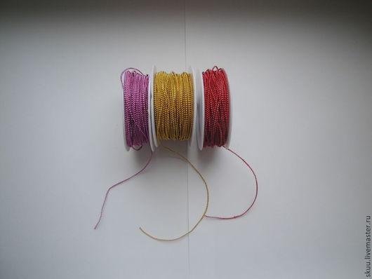 Другие виды рукоделия ручной работы. Ярмарка Мастеров - ручная работа. Купить Бусы на нитке 1 мм 3 цвета. Handmade.