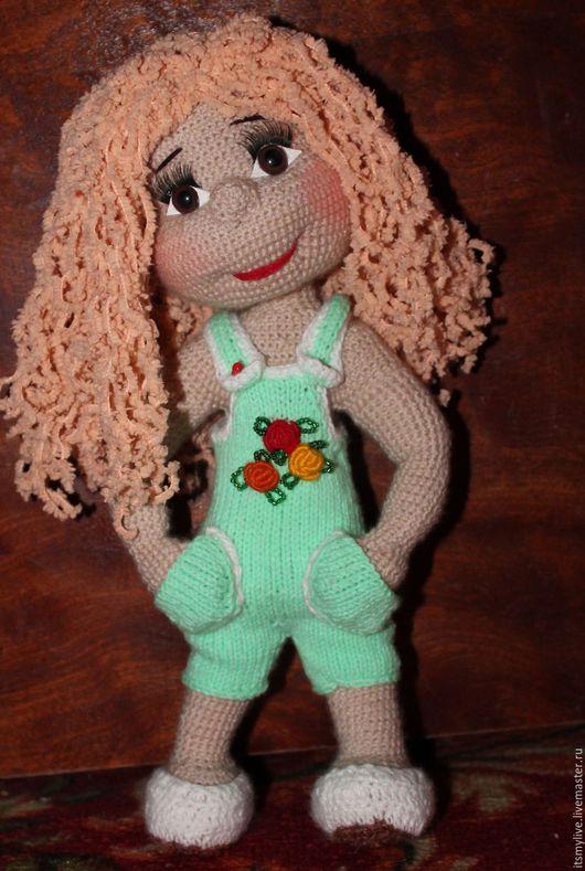 Человечки ручной работы. Ярмарка Мастеров - ручная работа. Купить Куколка Настенька. Handmade. Зеленый, игрушка в подарок, детская пряжа