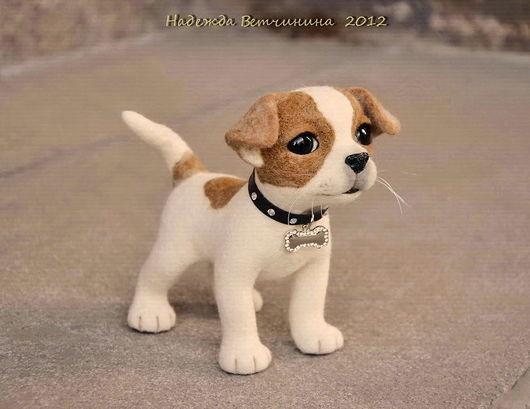 """Игрушки животные, ручной работы. Ярмарка Мастеров - ручная работа. Купить Чихуа """"Оскар"""". Handmade. Чихуахуа, щенок, игрушка из войлока"""