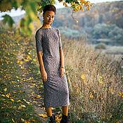 Одежда ручной работы. Ярмарка Мастеров - ручная работа Мокрый асфальт укороченное платье. Handmade.