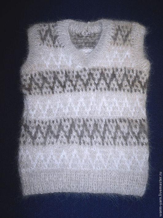 Одежда для мальчиков, ручной работы. Ярмарка Мастеров - ручная работа. Купить Жилет детский из собачьей шерсти. Handmade. собачий пух