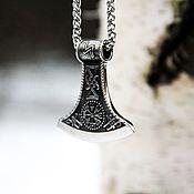 Украшения handmade. Livemaster - original item Pendant / Amulet of the axe of Perun from jewelry steel. Handmade.