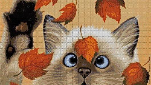 """Вышивка ручной работы. Ярмарка Мастеров - ручная работа. Купить Набор для вышивания бисером """"Осенние листья"""". Handmade. Авторская работа"""