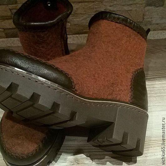"""Обувь ручной работы. Ярмарка Мастеров - ручная работа. Купить Валяные БОХО -  боты """" Бронза """". Handmade."""