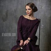 Одежда ручной работы. Ярмарка Мастеров - ручная работа Валяное платье «Кьянти». Handmade.