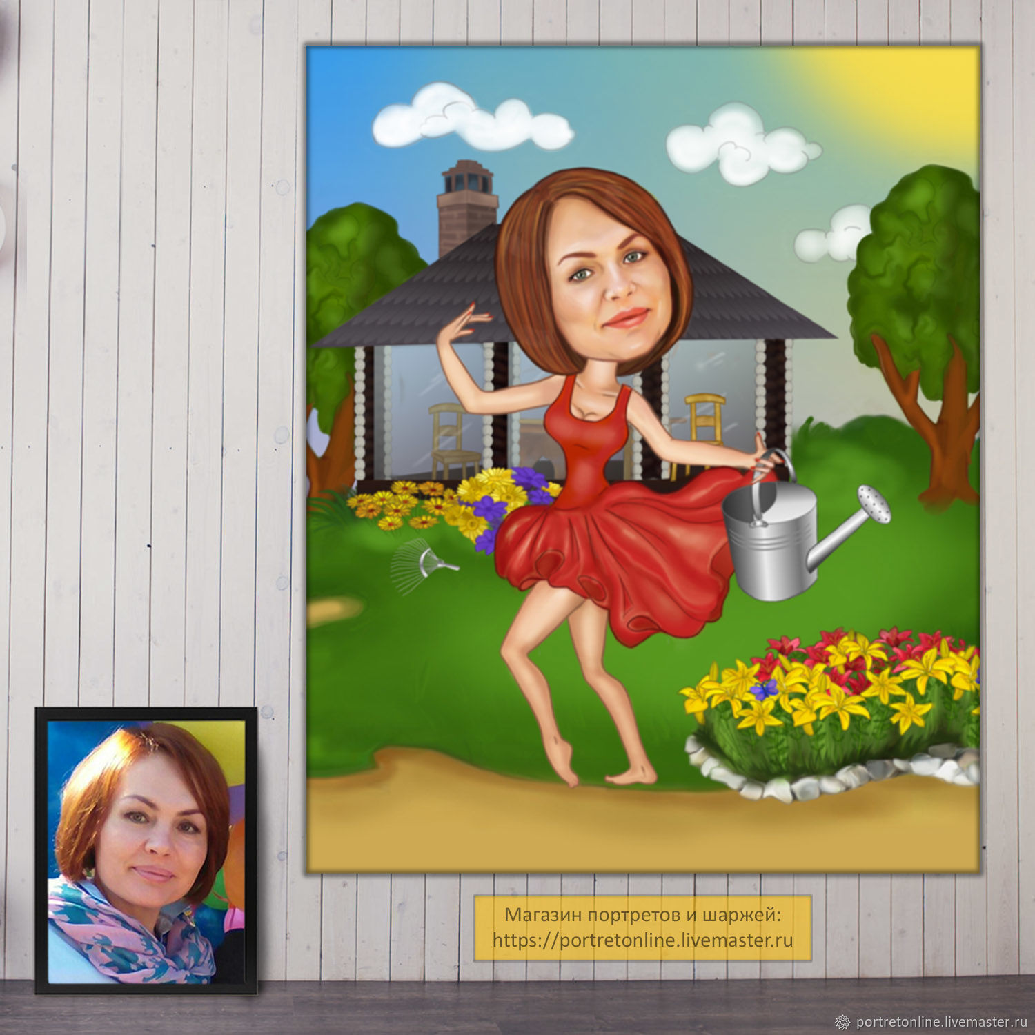 Gifts for women on birthday. The gift of a friend. Cartoon photo,Moscow, Caricature, Moscow,  Фото №1