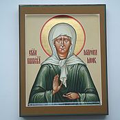 Icons handmade. Livemaster - original item The icon of the Holy Matrona of Moscow (handwritten). Handmade.