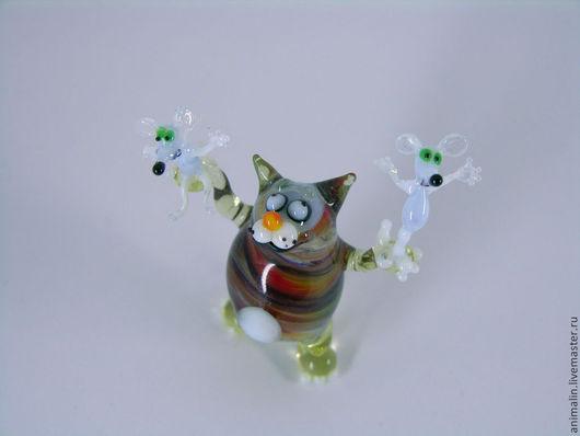 Подарки для влюбленных ручной работы. Ярмарка Мастеров - ручная работа. Купить Стеклянная фигурка из цикла бесед  кота Моисея. Handmade.