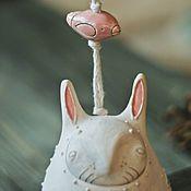 """Колокольчики ручной работы. Ярмарка Мастеров - ручная работа Колокольчик """"Белый Кролик"""". Handmade."""