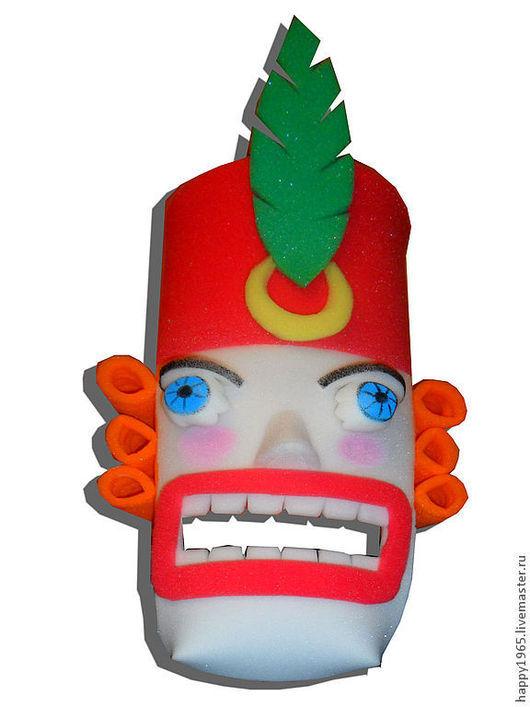 """Детские карнавальные костюмы ручной работы. Ярмарка Мастеров - ручная работа. Купить Поролоновая маска """"Щелкунчик"""". Handmade. Поролон, щелкунчик"""