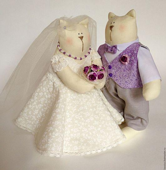 Куклы Тильды ручной работы. Ярмарка Мастеров - ручная работа. Купить Свадебные коты (интерьерная игрушка в стиле Тильда). Handmade.