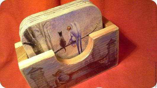 Кухня ручной работы. Ярмарка Мастеров - ручная работа. Купить Подставки под горячее.. Handmade. Комбинированный, акриловые краски