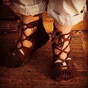 Обувь ручной работы handmade. Livemaster - original item Pistons, sandals, sandals. Handmade.