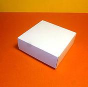 Материалы для творчества ручной работы. Ярмарка Мастеров - ручная работа Коробка крышка-дно самосборная - белый картон 280 г/м. Handmade.