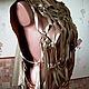 """Жилеты ручной работы. Ярмарка Мастеров - ручная работа. Купить Хитон из натуральной кожи """"Хитон цвета золота"""". Handmade. Джемпер"""
