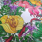 Аксессуары handmade. Livemaster - original item Shawls: Batik shawl