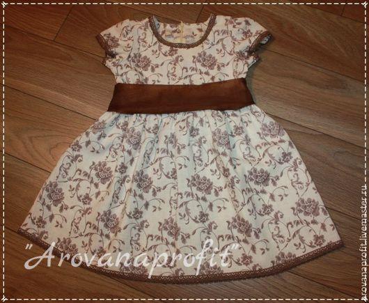Одежда для девочек, ручной работы. Ярмарка Мастеров - ручная работа. Купить Платье для девочки из льна. Handmade. Бежевый, для девочки, лен