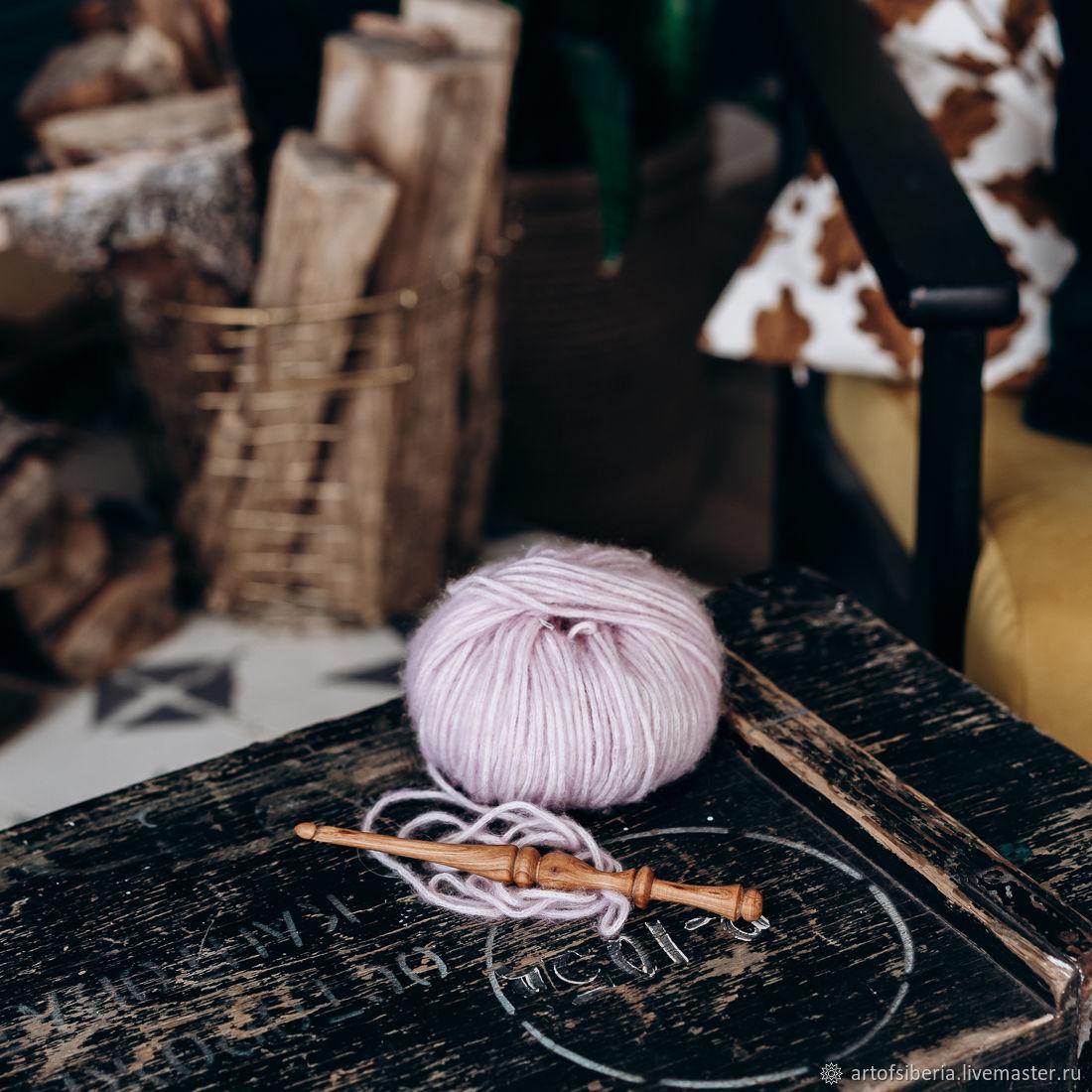 Wooden crochet hook 6mm (cherry) crochet hooks K148, Crochet Hooks, Novokuznetsk,  Фото №1
