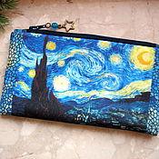 Сумки и аксессуары handmade. Livemaster - original item Van Gogh Bag, phone bag, bridesmaid clutch, cosmetic bag. Handmade.