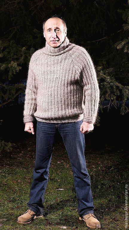 свитер  вязанный мужской «Водолаз»\r\nпряжа «Фантастика Эксклюзив»