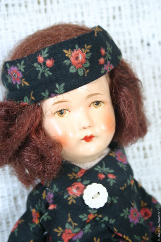 Винтажные куклы и игрушки. Ярмарка Мастеров - ручная работа. Купить Недотрога. Handmade. Кукла, цветы, хлопок