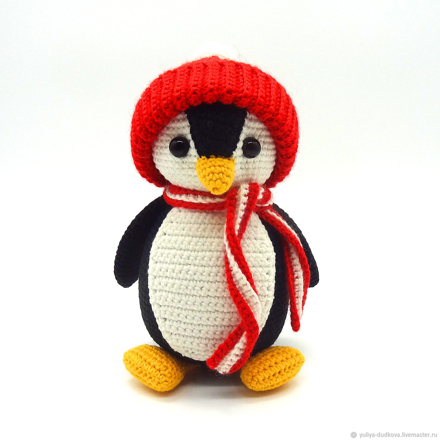 Knitted toy Penguin black, Stuffed Toys, Omsk,  Фото №1
