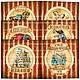 """Декупаж и роспись ручной работы. Ярмарка Мастеров - ручная работа. Купить Картинки для принтерных распечаток: Комплект """"Circus"""". Handmade. клоун"""
