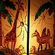 Этно-Светильник  Африка\r\nВитраж и ручная роспись по стеклу\r\nХудожник-витражист Екатерина Макарова