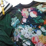 Одежда ручной работы. Ярмарка Мастеров - ручная работа Толстовка с цветочным принтом. Handmade.