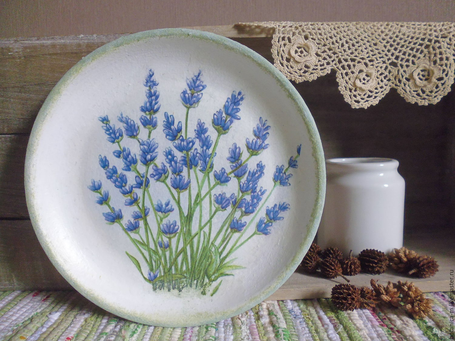 'Blue lavender' decorative Plate in the style of Provence, country, Plates, St. Petersburg,  Фото №1