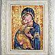 Иконы ручной работы. Ярмарка Мастеров - ручная работа. Купить Икона Владимирской Божьей матери. Handmade. Разноцветный, икона