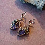 Украшения handmade. Livemaster - original item Earrings with sapphire. Handmade.