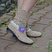 """Обувь ручной работы. Ярмарка Мастеров - ручная работа Вязаные сапожки """" Нежность"""". Handmade."""