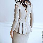 Одежда handmade. Livemaster - original item Beige knitted suit. Handmade.