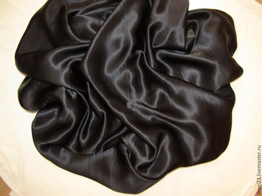 Шитье ручной работы. Ярмарка Мастеров - ручная работа. Купить Шелк натуральный арт.18 ШК-3 (Корея) черный. Handmade.