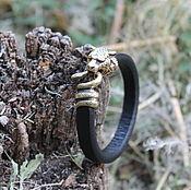 Украшения handmade. Livemaster - original item A leather bracelet - Sher Khan (the Tiger year). Handmade.
